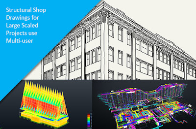 Structural Shop Drawings for Large Scaled Projects use Multi-user Mode