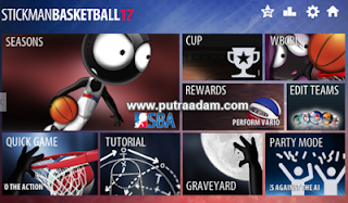 Download Stickman Basketball 2017 MOD APK v1.1.1 Terbaru Full Premium Unlocked