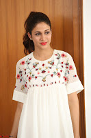 Lavanya Tripathi in Summer Style Spicy Short White Dress at her Interview  Exclusive 243.JPG