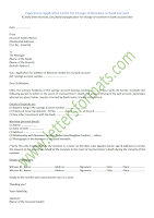 Application Letter for Change of Nominee in Bank Account (Sample)