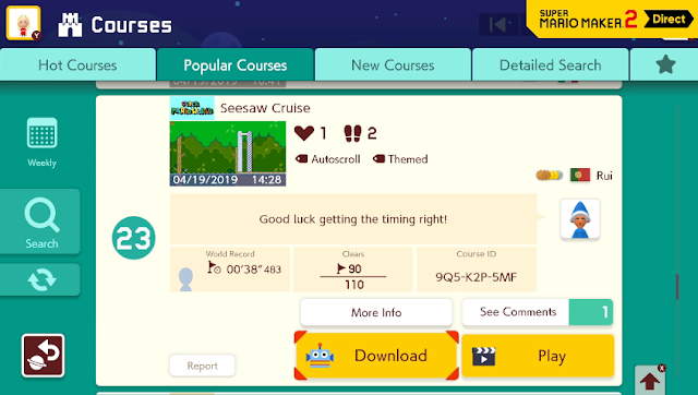 Super Mario Maker 2 Direct Rui Mii Magikoopa Kamek seesaw cruise course