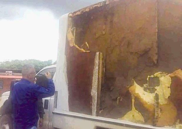 Camión de carga forrado con droga en Guárico