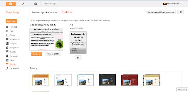 Blogger - Edytuj kod HTML