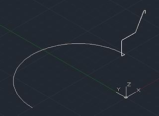 Latihan autocad 3D - perintah sweep