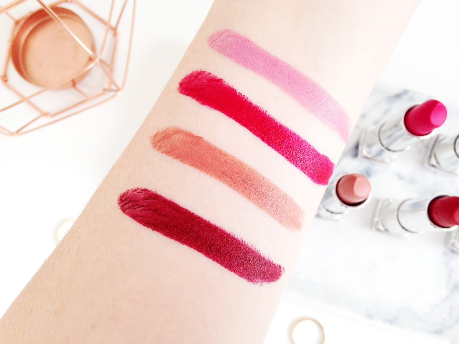 Maybelline Creamy Mattes Lipstick Swatches