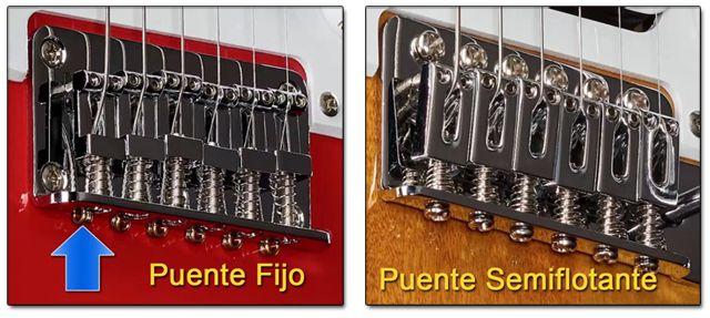 Puente Fijo y Semiflotante en Guitarra Eléctrica