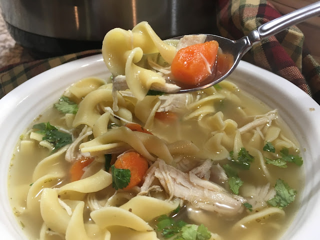 Instant Pot Chicken Noodle Soup! This comforting recipe adds your favorite vegetables, broth, chicken, and noodles.Chasing Saturday's