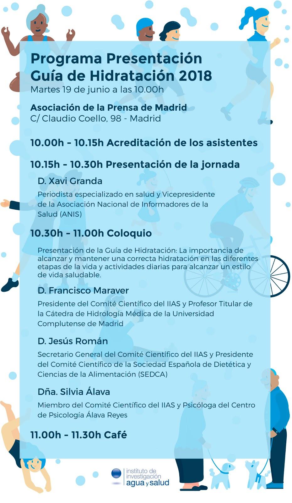 """El Instituto de Investigación Agua y Salud - IIAS se complace en invitarle a la Presentación de la """"Guía de Hidratación"""""""