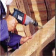perçage bois de charpente