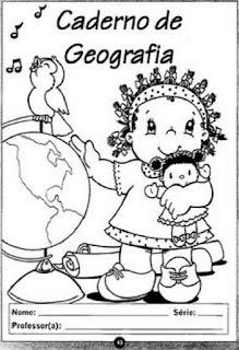 Capa de caderno geografia