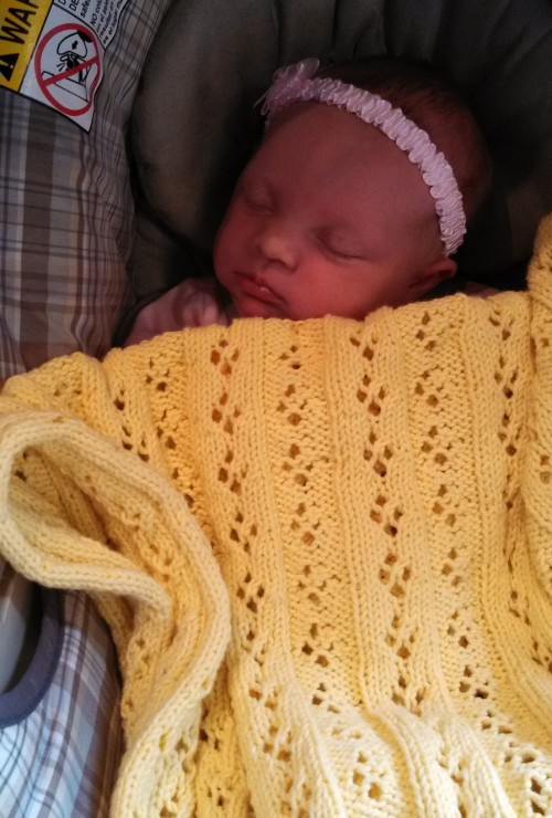 Eyelet Baby Blanket - Free Pattern