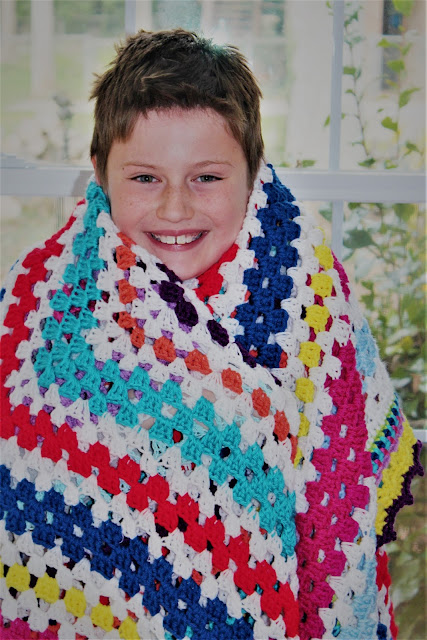 Colorful Granny Square Afghan Free Pattern