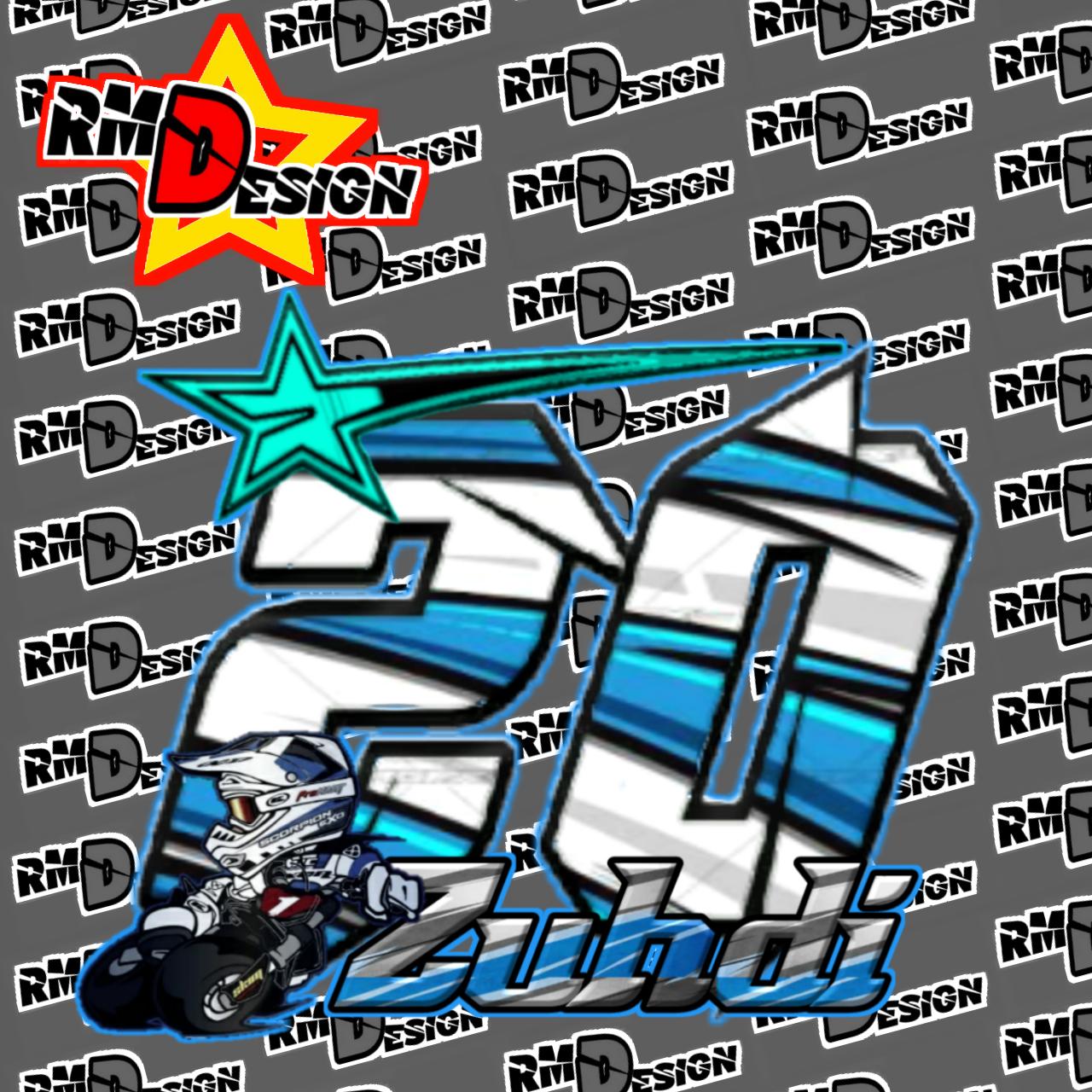 Desain nomor start road race drag bike