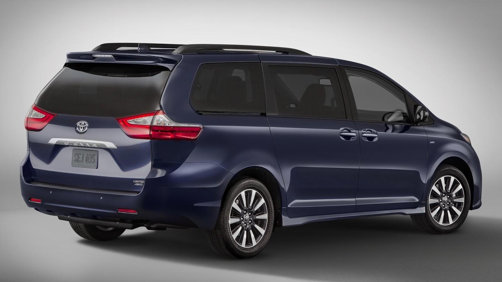 Car News Update Toyota Sienna Minor Change