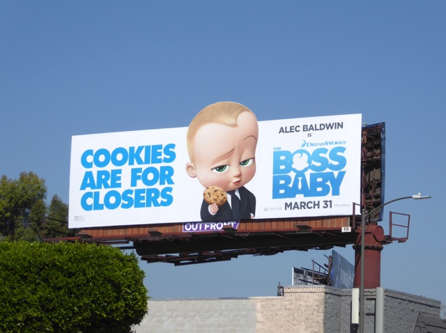 Cookies for closers Boss Baby billboard