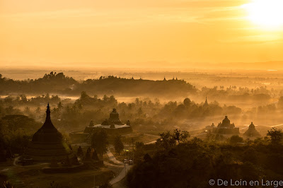 Mrauk-U - sunset - Myanmar