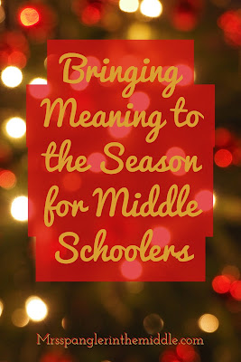 The perfect Middle School Christmas Teaching Idea to promote a different kind of gift giving in and out of the classroom for the holidays! #teaching #languagearts