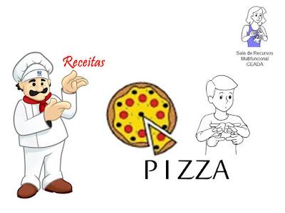 receitas de pizzas em LIBRAS