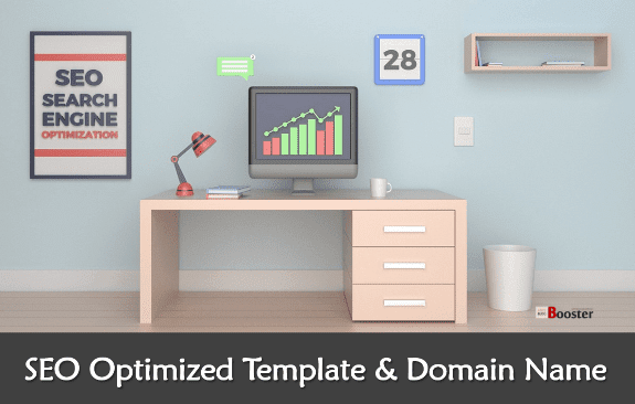SEO Optimized Template and Domain Name
