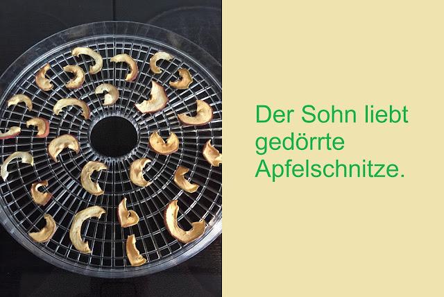 gedörrte Apfelschnitze
