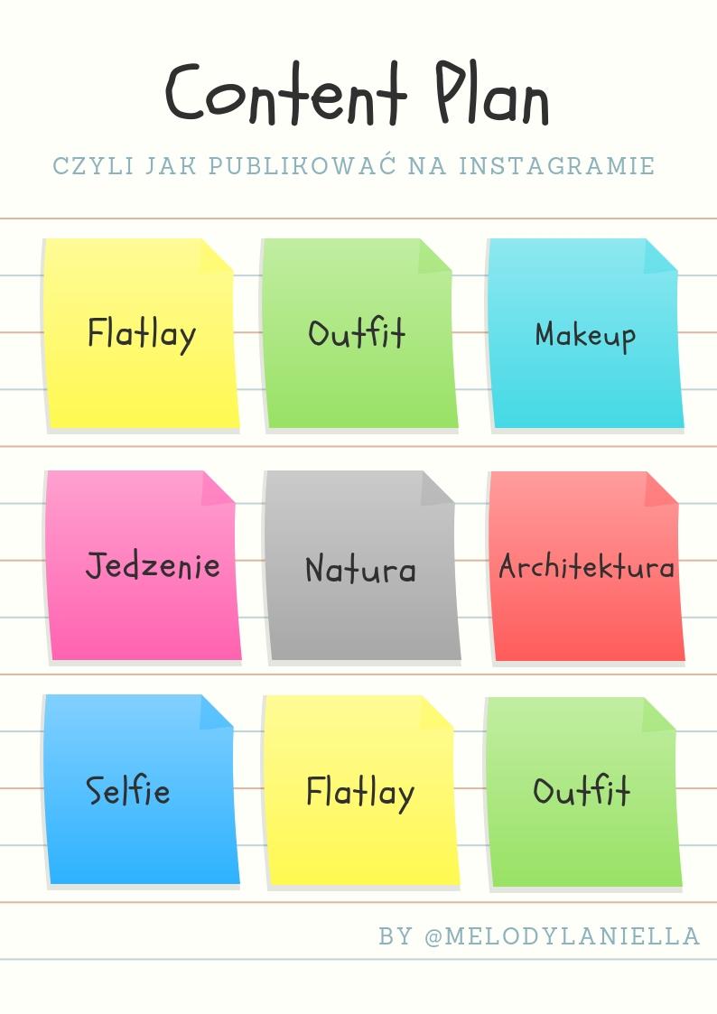 Content Plan instagram publikacja postów jak zaplanować narzędzia do planowania postów na instagramie idealny feed profil zdjęcia obróbka filtry hasztagi blog porady marketing