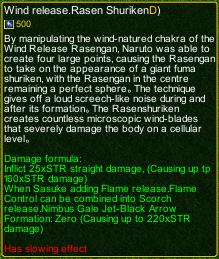 naruto castle defense 6.0 naruto rasen shuriken detail