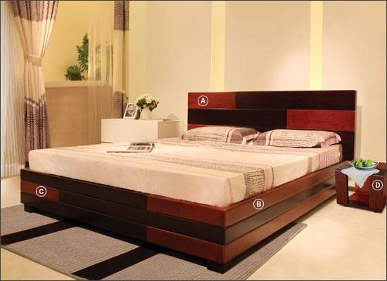 Nhiều mẫu giường gỗ phong cách hiện đại