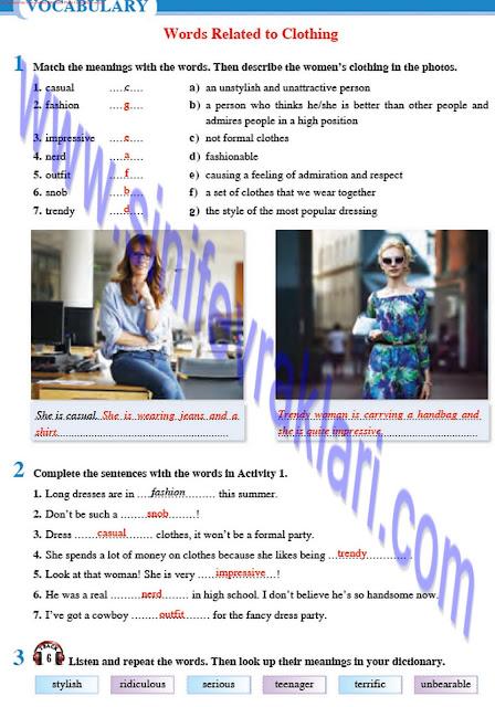 8. Sınıf İngilizce Tutku Yayınları Ders Kitabı Cevapları Sayfa 18