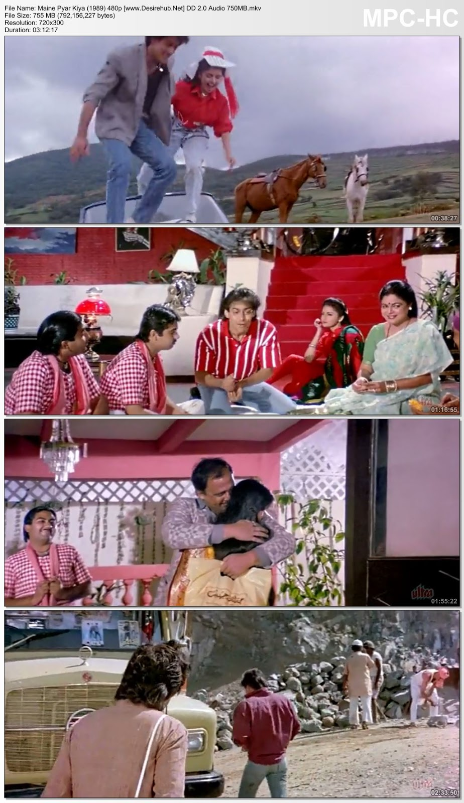 Maine Pyar Kiya (1989) Hindi 480p BRRip DD 2.0 Audio – 750MB Desirehub