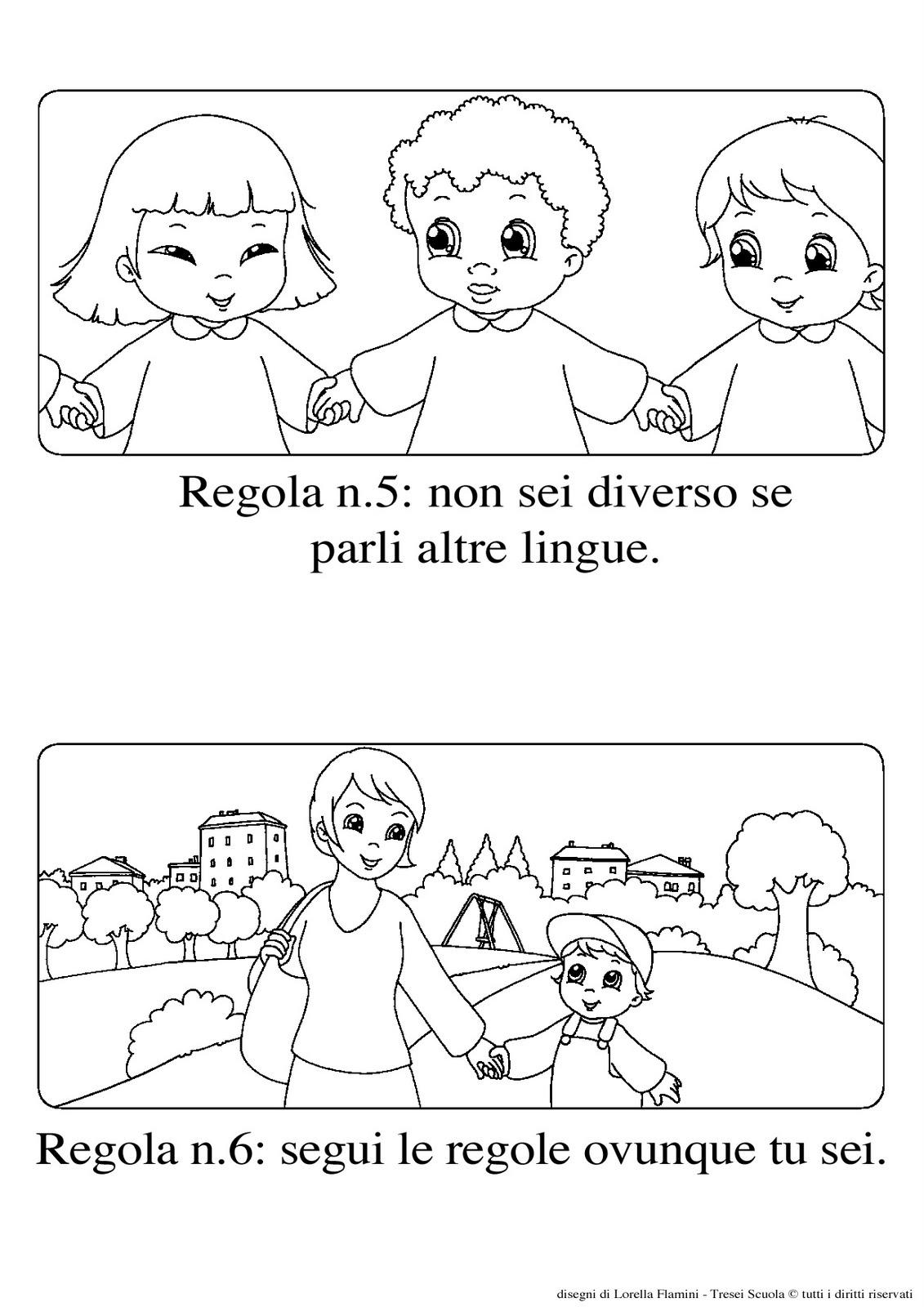 I diritti dei bambini disegni da colorare for Disegno della casa sulla spiaggia
