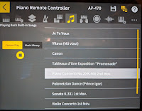 Pictures of AP470 piano cabinet & control panel