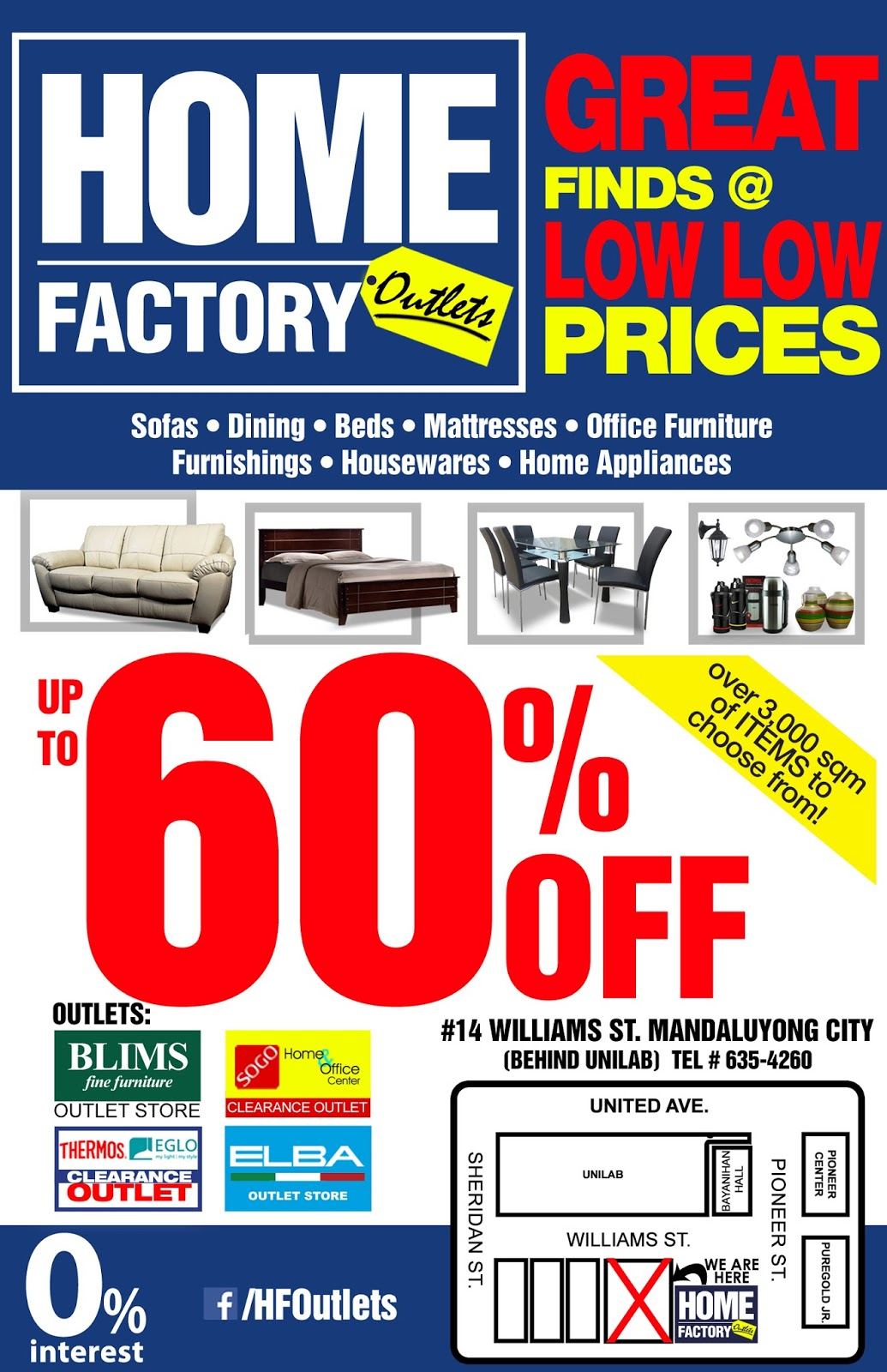 90f4d2cc85cb Home Factory Outlets Grand Opening Sale - EDnything