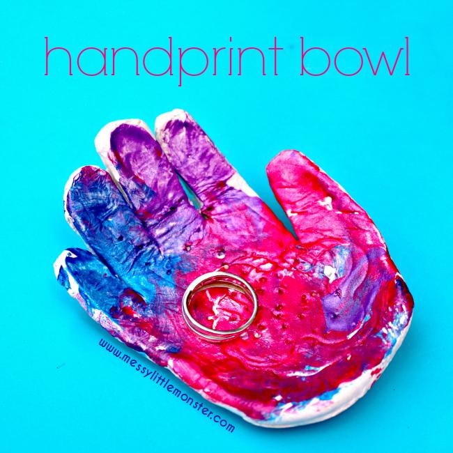 DIY Clay Handprint Bowl Keepsake