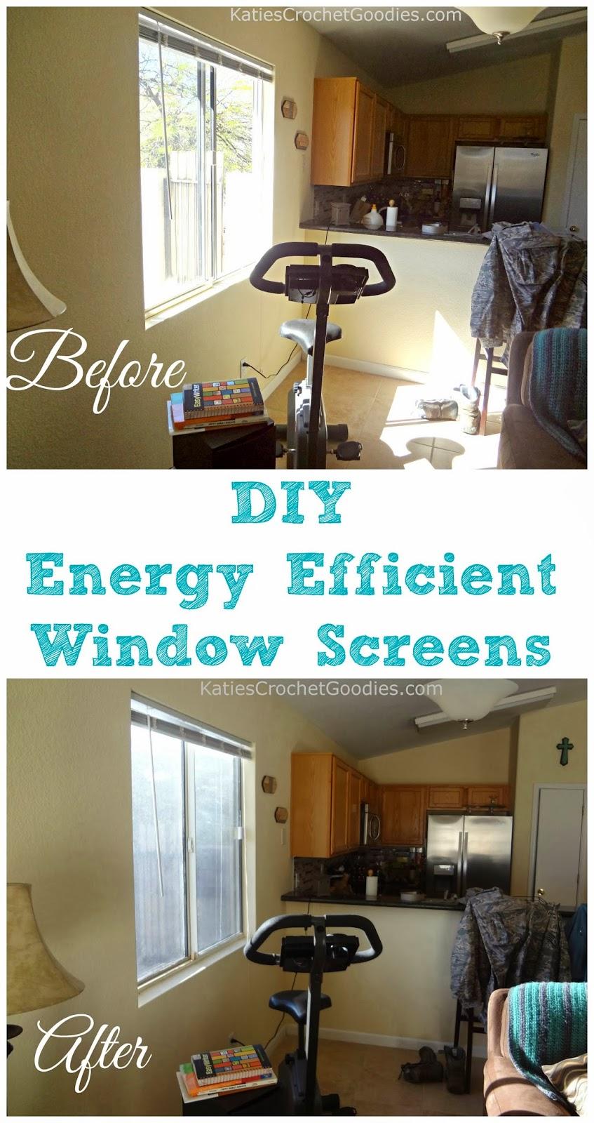 Diy Energy Efficient Window Screens Katie 39 S Crochet Goodies