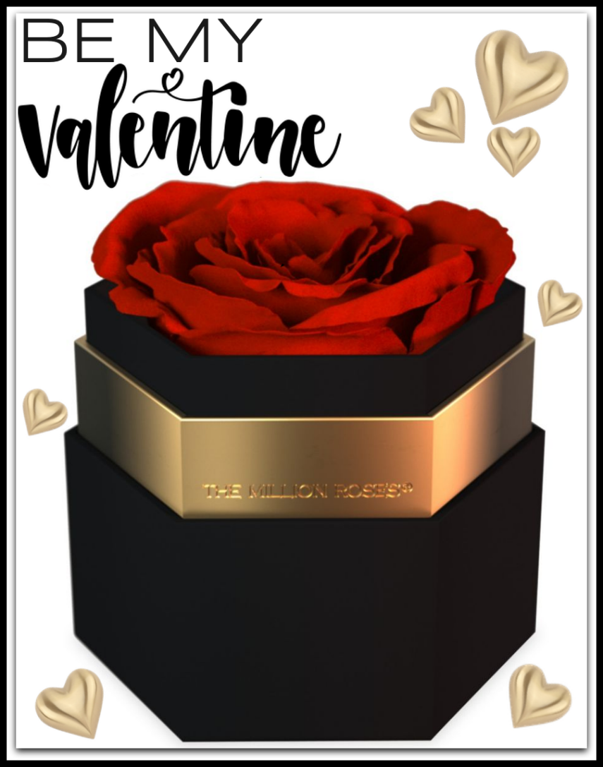 The Million Roses One In A Million Rose in Black Hexagon Box
