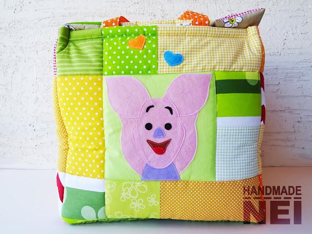 """Handmade Nel: Кош за играчки от плат """"Поли"""""""