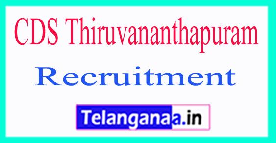 Center For Development Studies CDS Thiruvananthapuram Recruitment Notification 2017