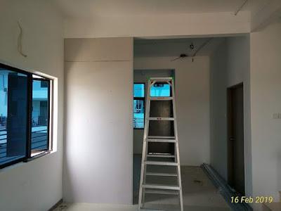 Divider atau pembahagi ruang guna gypsum board