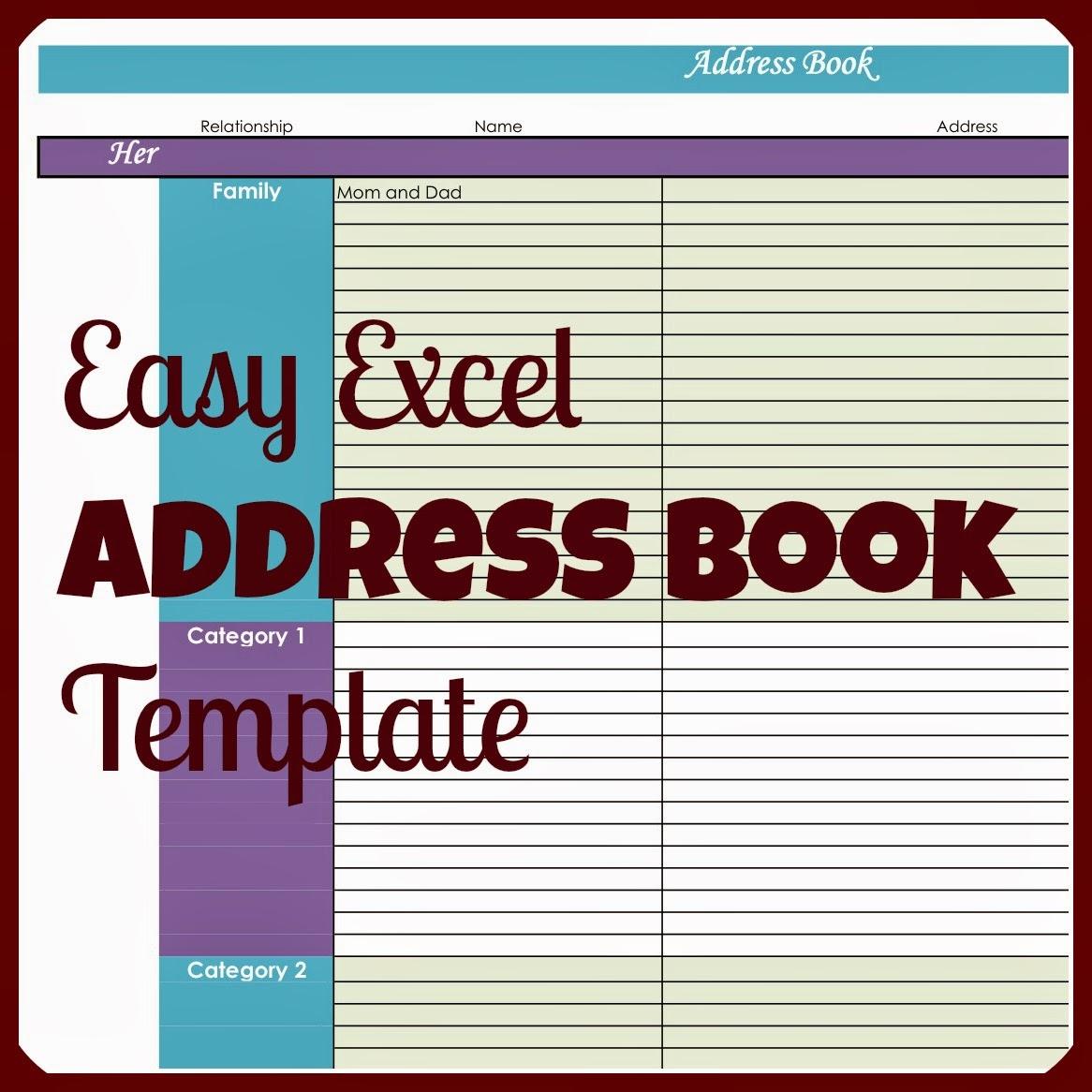 address book template free