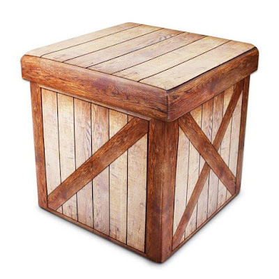 Buy the Wood Pattern Folding Storage Ottoman at Nilecorp.com