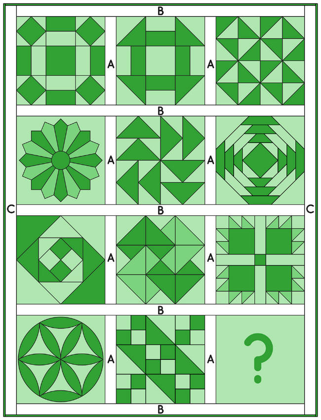 6 Köpfe - 12 Blöcke | Mein Quilt-Layout - Kurzanleitung