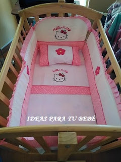 Ropa de minicuna moises Hello Kitty