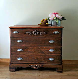 plain to classy antique dresser with tutorial
