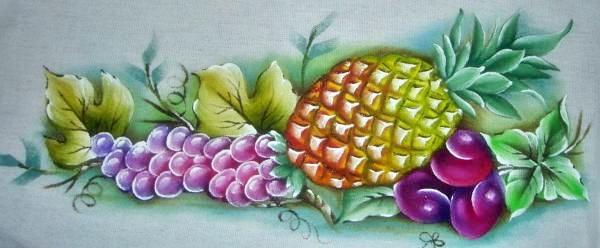 pintura em tecido frutas passo a passo