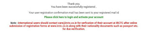Successfully create account IRCTC - SEO FRIENDLY