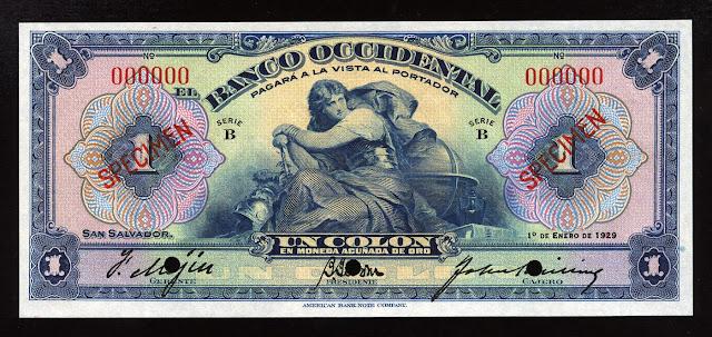 money currency Salvadoran colon