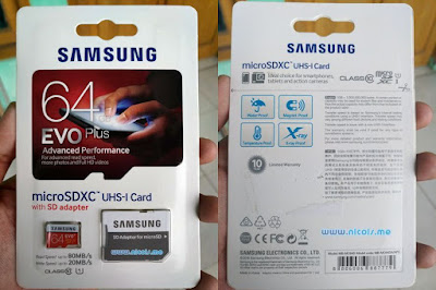 Review Samsung microSDXC EVO Plus Class-10 UHS-I 64GB