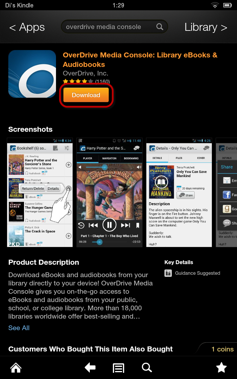 Overdrive Media Console App