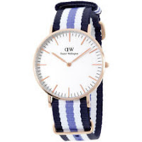 Daniel Wellington Trinity White Dial Nylon Strap Ladies Watch