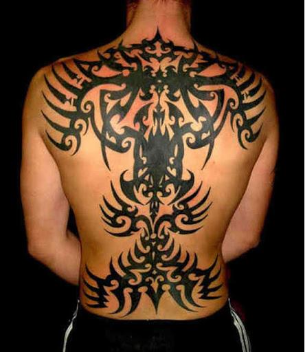 Tatuagem Tribal para os homens em volta completa